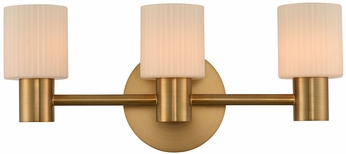 Kalco 308433WB Harlowe Contemporary Winter Brass LED 3-Light Bathroom Sconce