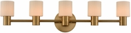 Kalco 308435WB Harlowe Contemporary Winter Brass LED 5-Light Vanity Light Fixture