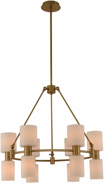 Kalco 308470WB Harlowe Modern Winter Brass Chandelier Lamp