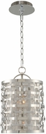 Kalco 308710SL Bridgeport Contemporary Brushed Stainless Steel 7  Mini Drum Pendant Lamp
