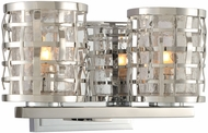 Kalco 308732SL Bridgeport Modern Brushed Stainless Steel Xenon 2-Light Bathroom Light Fixture