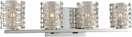Kalco 308734SL Bridgeport Modern Brushed Stainless Steel Xenon 4-Light Bathroom Vanity Light