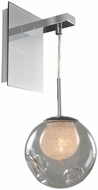 Kalco 309520CH-CLEAR Meteor Contemporary Chrome Halogen Light Sconce
