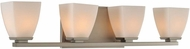 Kalco 310634SN Huntington Satin Nickel Xenon 4-Light Bathroom Wall Sconce