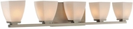 Kalco 310635SN Huntington Satin Nickel Xenon 5-Light Bathroom Light Sconce