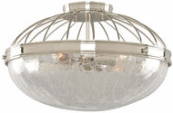 Kalco 311342PN Montauk Modern Polished Nickel 16  Ceiling Light Fixture