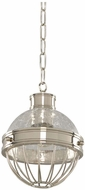 Kalco 311350PN Montauk Modern Polished Nickel Mini Pendant Hanging Light