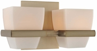 Kalco 311632BRB Malibu Brushed Bronze Xenon 2-Light Bathroom Lighting Sconce