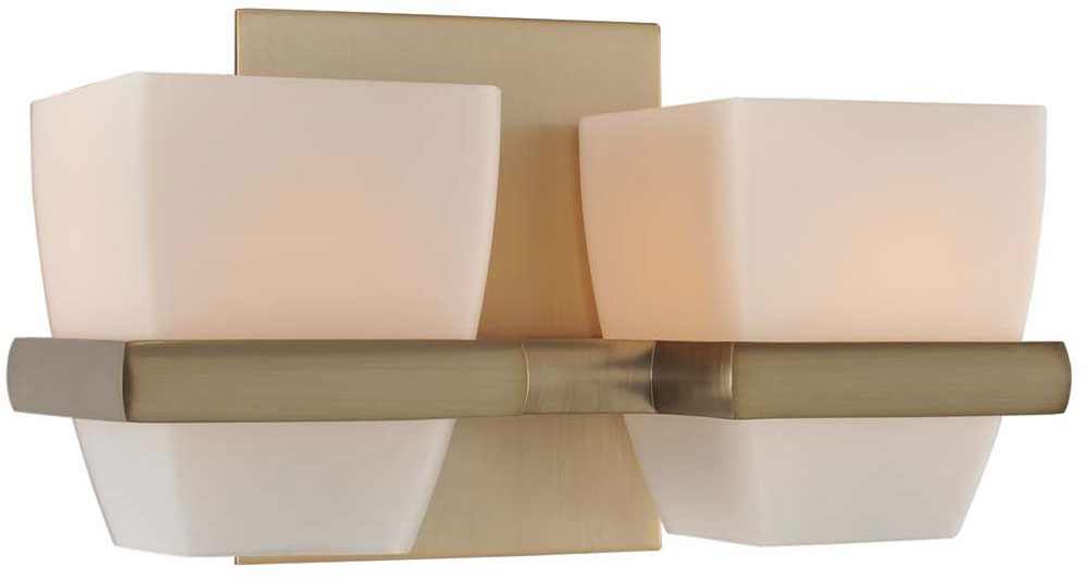 Kalco 311632brb malibu brushed bronze xenon 2 light bathroom lighting sconce kal 311632brb for Brushed bronze bathroom lighting
