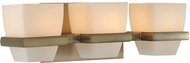 Kalco 311633BRB Malibu Brushed Bronze Xenon 3-Light Bath Lighting Sconce