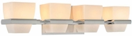 Kalco 311634CH Malibu Chrome Xenon 4-Light Lighting For Bathroom