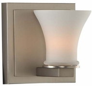 Kalco 312031SN Morro Bay Contemporary Satin Nickel Xenon Wall Sconce Lighting