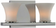 Kalco 312032CH Morro Bay Modern Chrome Xenon 2-Light Bathroom Lighting Fixture