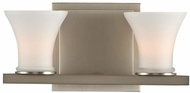 Kalco 312032SN Morro Bay Contemporary Satin Nickel Xenon 2-Light Vanity Lighting