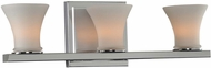 Kalco 312033CH Morro Bay Modern Chrome Xenon 3-Light Vanity Light
