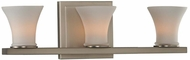 Kalco 312033SN Morro Bay Contemporary Satin Nickel Xenon 3-Light Bath Light Fixture