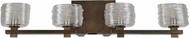 Kalco 312134VBZ Clearwater Contemporary Vintage Bronze Xenon 4-Light Vanity Lighting Fixture