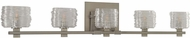 Kalco 312135SN Clearwater Modern Satin Nickel Xenon 5-Light Bathroom Vanity Light Fixture