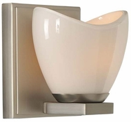 Kalco 313031SN Vero Modern Satin Nickel Xenon Sconce Lighting