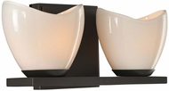 Kalco 313032EB Vero Contemporary English Bronze Xenon 2-Light Bathroom Lighting Sconce