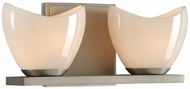 Kalco 313032SN Vero Modern Satin Nickel Xenon 2-Light Bathroom Sconce Lighting