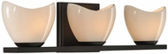 Kalco 313033EB Vero Contemporary English Bronze Xenon 3-Light Bath Lighting Sconce