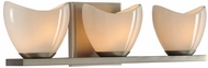 Kalco 313033SN Vero Modern Satin Nickel Xenon 3-Light Bathroom Wall Light Fixture