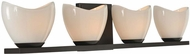 Kalco 313034EB Vero Contemporary English Bronze Xenon 4-Light Bathroom Lighting