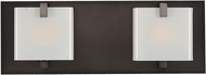 Kalco 313232BBN Meridian Brushed Black Nickel Xenon 2-Light Bath Sconce