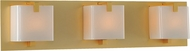 Kalco 313233GD Meridian Gold Xenon 3-Light Bathroom Vanity Light Fixture