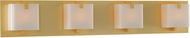 Kalco 313234GD Meridian Gold Xenon 4-Light Bath Wall Sconce
