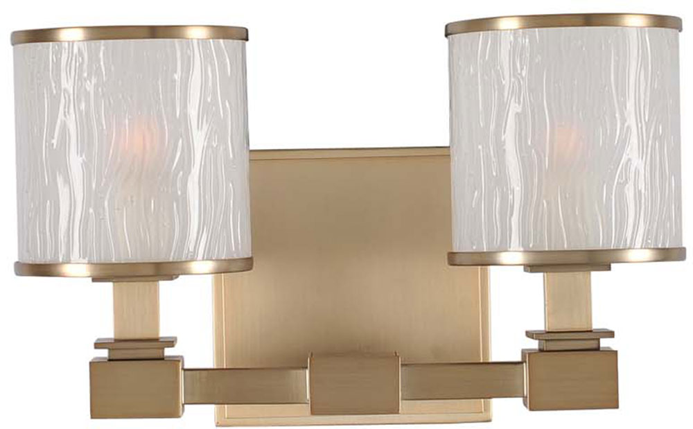 Kalco 313532brb destin brushed bronze xenon 2 light bath lighting kal 313532brb for Brushed bronze bathroom lighting