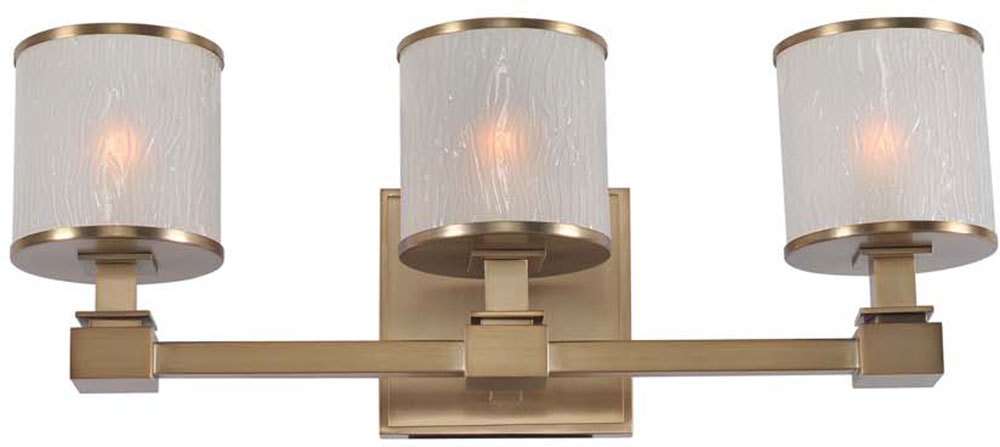 Kalco 313533brb destin brushed bronze xenon 3 light - Brushed bronze bathroom light fixtures ...