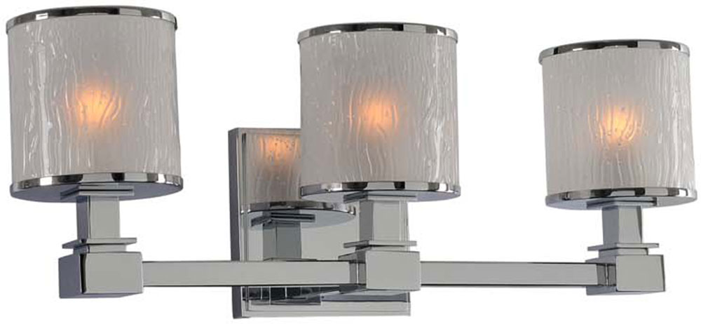 Kalco 313533CH Destin Chrome Xenon 3-Light Vanity Lighting - KAL-313533CH