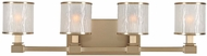 Kalco 313534BRB Destin Brushed Bronze Xenon 4-Light Vanity Light