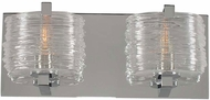 Kalco 313732CH South Bay Modern Chrome Xenon 2-Light Bath Lighting Fixture