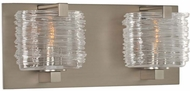Kalco 313732SN South Bay Contemporary Satin Nickel Xenon 2-Light Bathroom Light Fixture