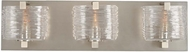 Kalco 313733SN South Bay Contemporary Satin Nickel Xenon 3-Light Bathroom Vanity Light