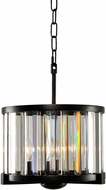 Kalco 314251SB Essex Modern Sienna Bronze 12.5  Drum Pendant Light Fixture