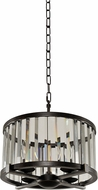 Kalco 314252SB Essex Contemporary Sienna Bronze 16  Drum Pendant Lighting Fixture
