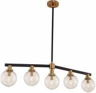 Kalco 315452BBB Cameo Contemporary Matte Black Finish with Brushed Pearlized Brass Island Lighting