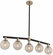 Kalco 315452BPN Cameo Modern Matte Black Finish with Nickel Accents Kitchen Island Lighting