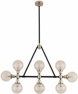 Kalco 315453BPN Cameo Modern Matte Black Finish with Nickel Accents Island Light Fixture