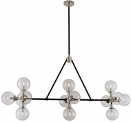 Kalco 315454BPN Cameo Contemporary Matte Black Finish With Nickel Accents Island Light Fixture