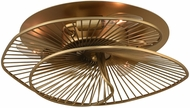 Kalco 315940NRB Aurora Contemporary Nordic Brass Ceiling Lighting