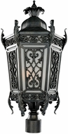 Kalco 401190GI Belcastro Old World Gilded Iron Outdoor Post Lamp