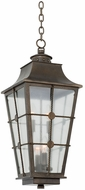 Kalco 403551AGB Belle Grove Traditional Aged Bronze Outdoor Hanging Pendant Lighting