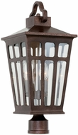 Kalco 403600OR Piedmont Old Rust Exterior Lamp Post Light Fixture
