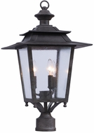 Kalco 404100AI Saddlebrook Traditional Aged Iron Outdoor Post Lighting