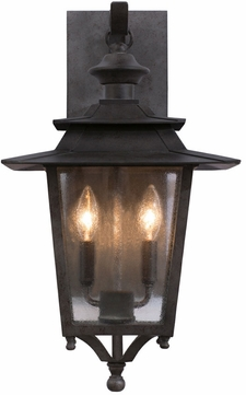 Kalco 404121AI Saddlebrook Traditional Aged Iron Outdoor Medium Wall Mounted Lamp